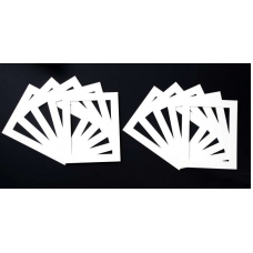 Pack of 50 White Picture Mounts