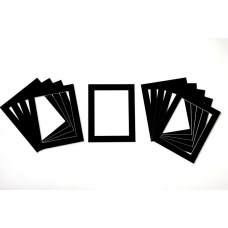 Pack of 50 Black Picture Mounts (Metric Sizes)