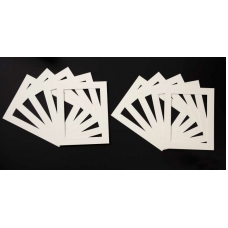 Pack of 50 Cream Picture Mounts (Metric Sizes)
