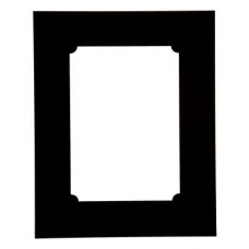Single Rounded Internal Black Picture Mount
