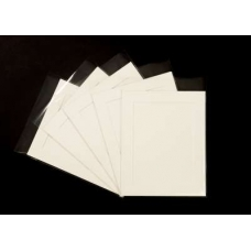 Pack of 5 Cream Picture Mounts, Backing and Bags