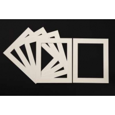 Pack of 5 Cream Picture Mounts