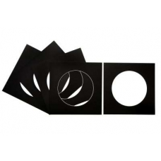 Pack of 5 Black Circular Picture Mounts