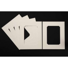 Pack of 5 Cream Rounded Internal Picture Mount