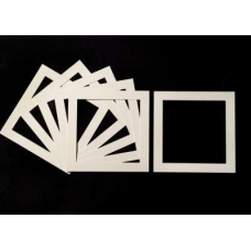 Pack of 5 Cream Square Picture Mounts