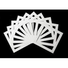 Pack of 10 White Square Picture Mounts