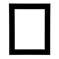 Single Black Picture Mount
