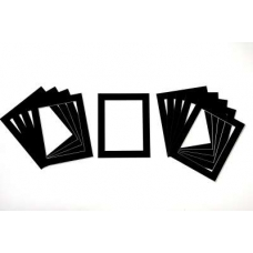 Pack of 10 Black Picture Mounts (Metric Sizes)