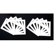 Pack of 10 White Picture Mounts (Metric Sizes)
