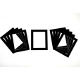 Pack of 10 Black Picture Mounts