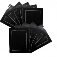 Pack of 10 Black Picture Mounts, Backing and Bags