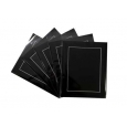Pack of 5 Black Picture Mounts, Backing and Bags