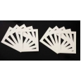 Pack of 10 Cream Picture Mounts
