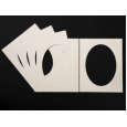 Pack of 5 Cream Oval Picture Mounts