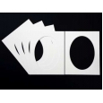 Pack of 5 White Oval Picture Mounts
