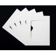 Pack of 5 White Rounded Internal Picture Mount