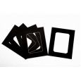 Pack of 5 Black Rounded Internal Picture Mount
