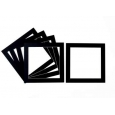 Pack of 5 Black Square Picture Mounts
