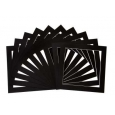 Pack of 10 Black Square Picture Mounts