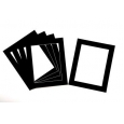 Pack of 5 Black Picture Mounts (Metric Sizes)
