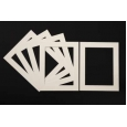 Pack of 5 Cream Picture Mounts (Metric Sizes)