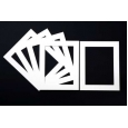 Pack of 5 White Picture Mounts (Metric Sizes)