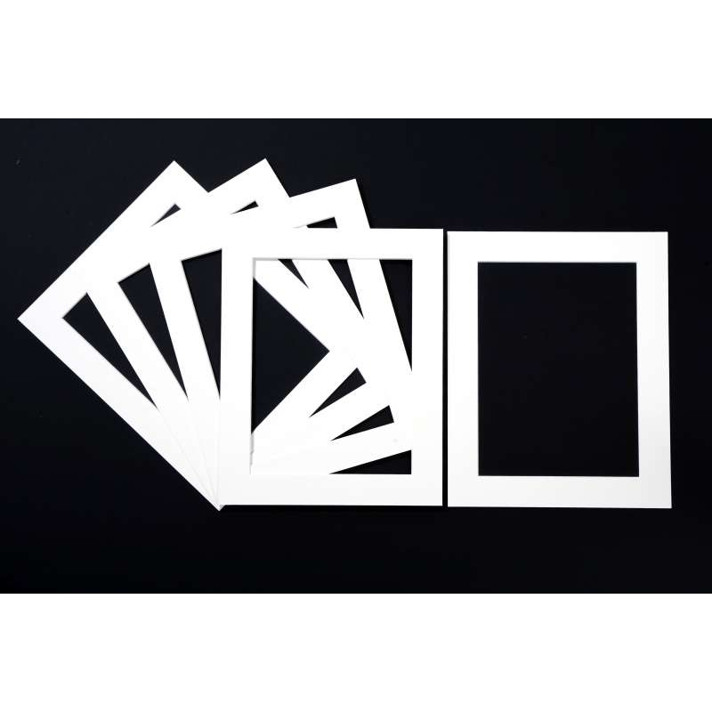 Pack of 5 White Picture Mounts