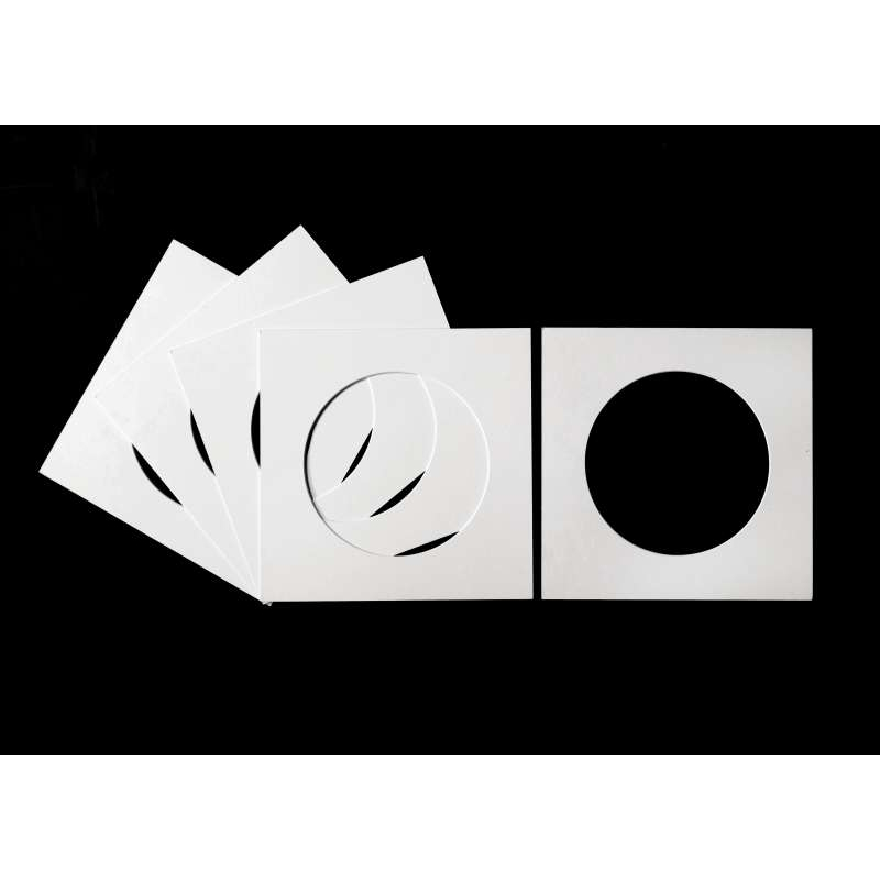 Pack of 5 White Circular Picture Mounts