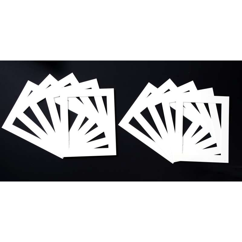Pack of 10 White Picture Mounts